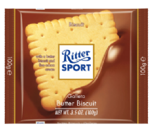 Ritter Sport Butter Biscuit Milk Chocolate Bar 100g